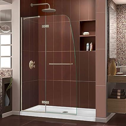 DreamLine Aqua Ultra 45 in. Width, Frameless Hinged Shower Door, 5 ...