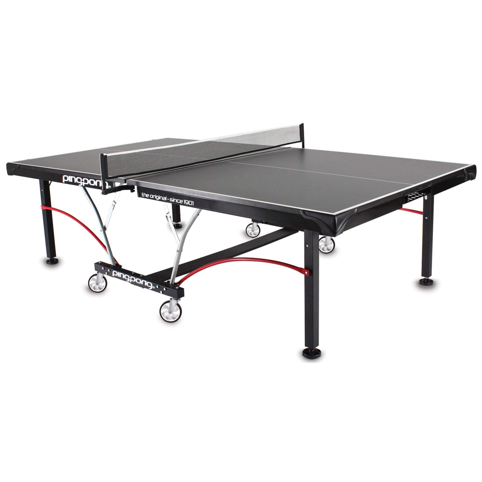 Ping-Pong Elite II Table Foldable Regulation Size Tennis Table w/ Caster Wheels by ping pong