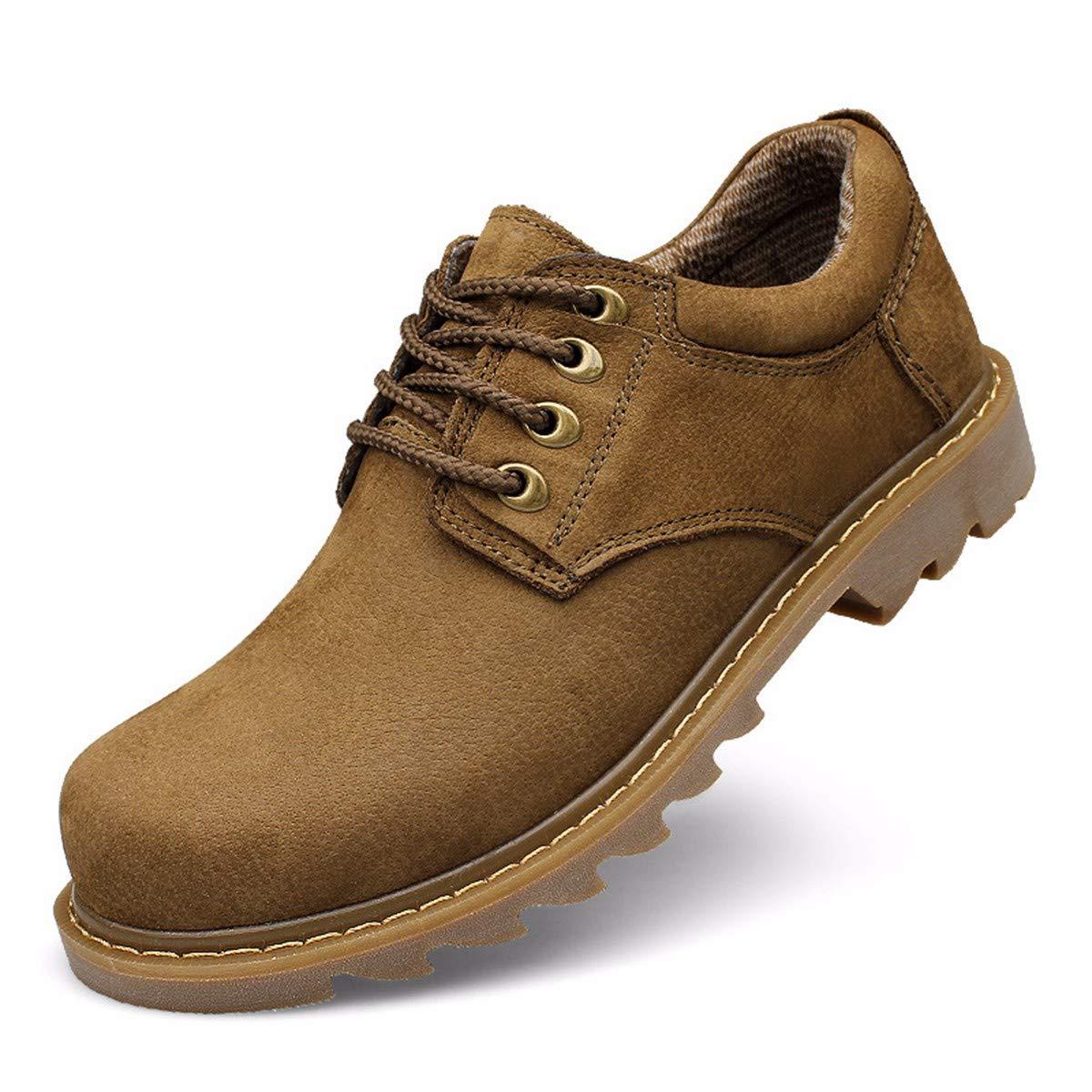 KMJBS Herren Schuhe Outdoor Casual Schuhe Frenulum Werkzeugschuhe Low Side Big schuhe Frosted Skin