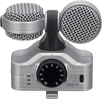 ZOOM iQ7 MS - Micrófono estéreo para Apple iPhone/iPad, plateado: Amazon.es: Instrumentos musicales