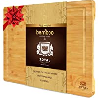 Organic Bamboo Cutting Board with Juice Groove - Kitchen Chopping Board for Meat (Butcher Block) Cheese and Vegetables…