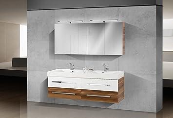 Badmöbel Set mit 160 cm Doppelwaschtisch: Amazon.de: Küche & Haushalt | {Doppelwaschbecken mit unterschrank 140 92}