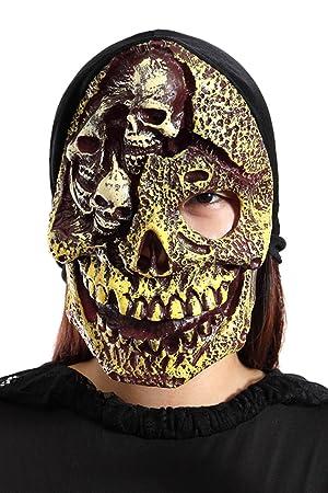 Li03, máscara de miedo para los disfraces de Halloween, fiesta del tema, disfraces