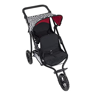 Deluxe Double Jogger Doll Twin Stroller Adjustable Handle Performance: Toys & Games