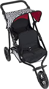 Deluxe Double Jogger Doll Twin Stroller Adjustable Handle Performance