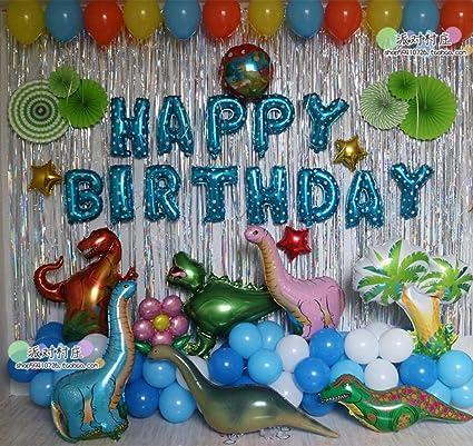 Decoración de cumpleaños Tema de Dinosaurio Globo Bolsa ...