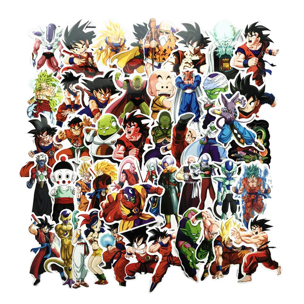 Dragon Ball Z Super Stickers Figure Goku Black Decal for Laptop Phone Kid Party (200Pcs)