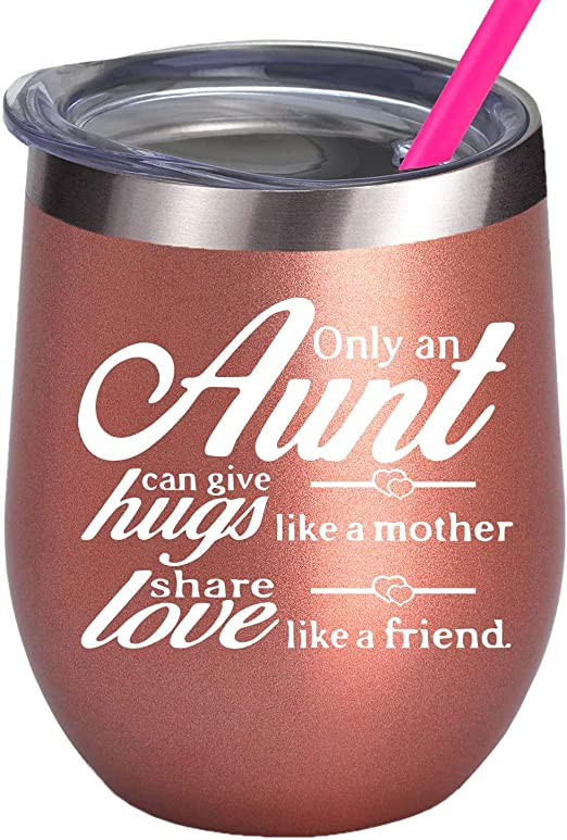 Auntie Insulated Wine Glass The Best Aunt Ever Gift Idea For Her Insulated Wine Glass For Wine Lovers Insulated Wine Glass Aunt Gift