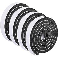 HQdeal Weer strippen deurafdichting strip,Deurafdichting ontwerp excluder tape schuimtape enkelzijdig zwart zelfklevend…