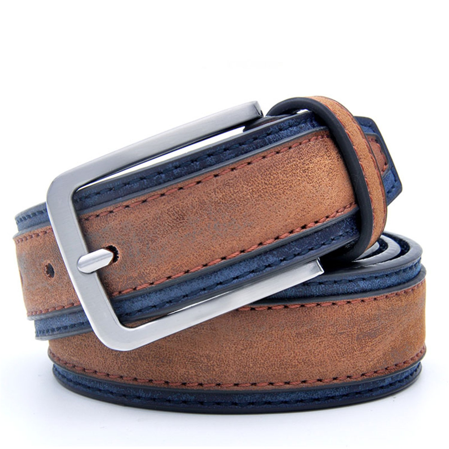 Saneoo Casual Patchwork Men Belts Designers Luxury Men Fashion Belt Trends Trousers With Three Color To Choose