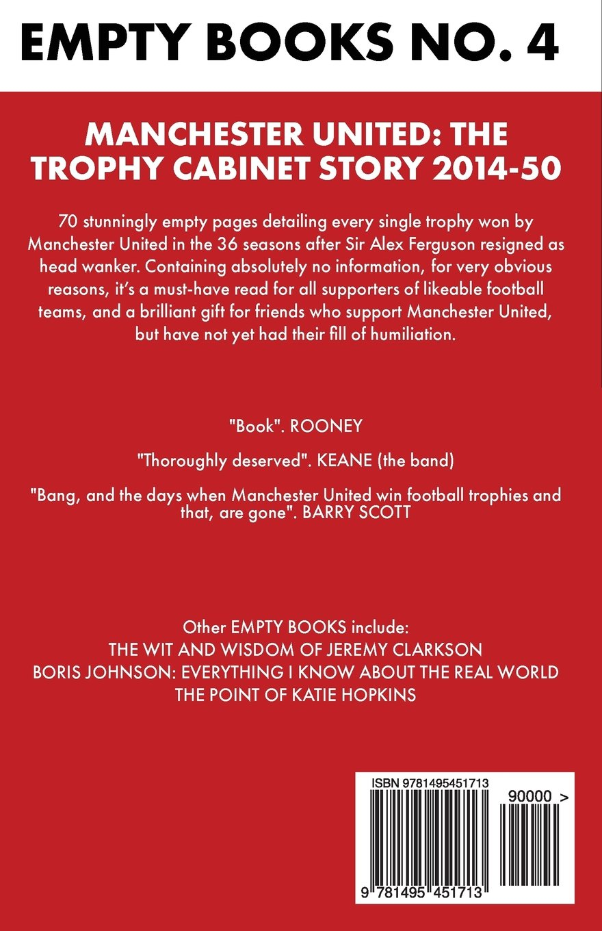 Manchester United The Trophy Cabinet Story 2014 50 EMPTY BOOKS Amazoncouk MT Books 9781495451713
