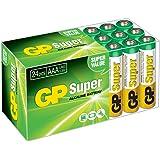 GP Batteries GP24A Süper Alkalin LR03/E92/AAA  İnce Kalem Pil, 1.5 Volt, 24'lü Paket, Bakır/Beyaz/Yeşil
