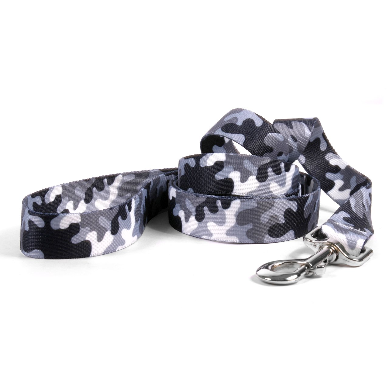 Yellow Dog Design Black And White Camo Dog Leash 1'' Wide And 5' (60'') Long, Large