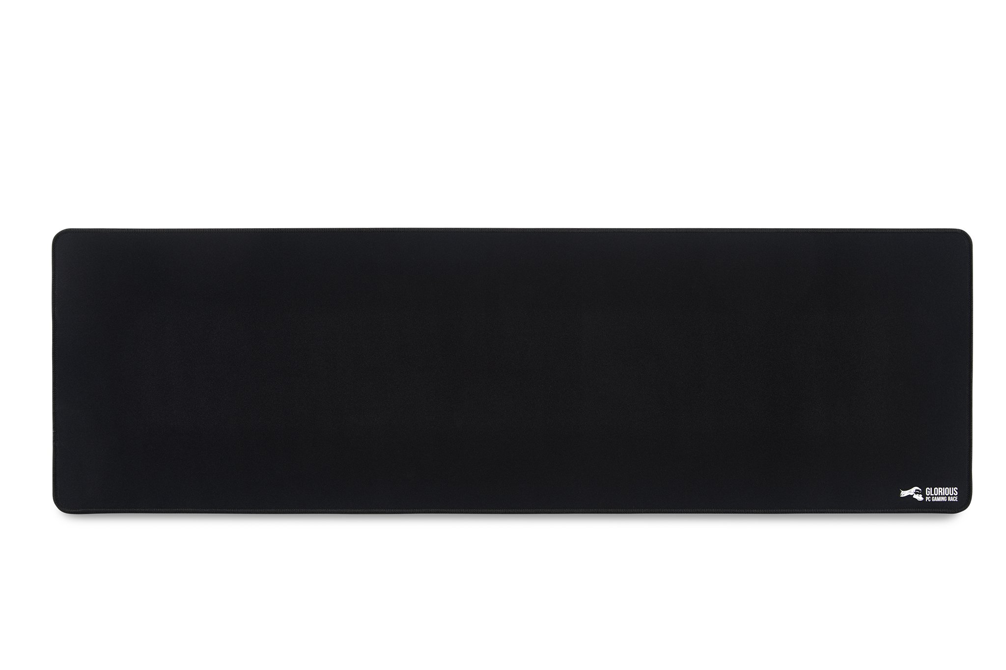 """Glorious Extended Gaming Mouse Pad/Mat - Long Black Cloth Mousepad, Stitched Edges   36x11"""" (G-E)"""