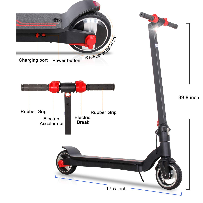 Amazon.com: NOPPC Patinete eléctrico con plegado portátil ...