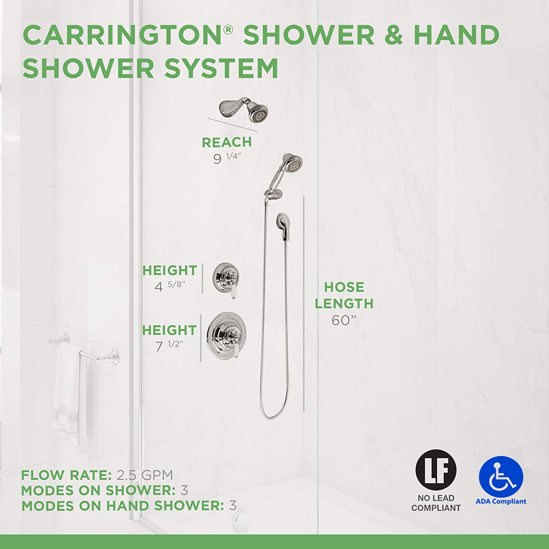 Symmons 4405 Carrington Hand Shower Chrome Shower Systems Amazon Com