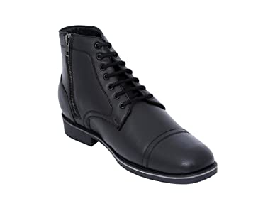 bd1244819213b Celby Sharp Black Color Boot with Side Zipper Hidden Heel Height Increasing  Elevator Shoes for Men