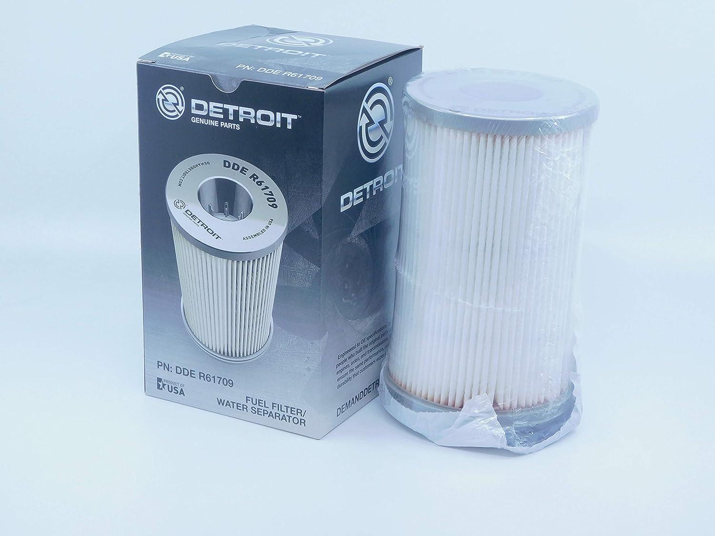 amazon com: freightliner detroit diesel dd15 r61709 fuel water seperator  element: automotive