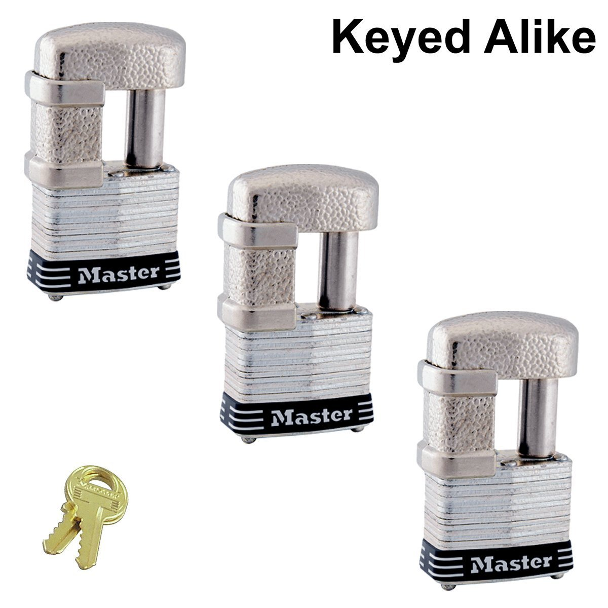 Master Lock - (3) Keyed Alike Trailer & Multi Purpose Padlocks, 37KA-3