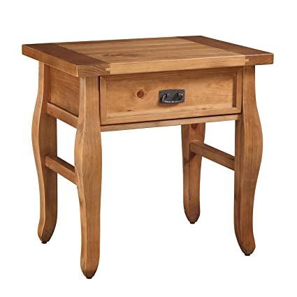 Distressed Natural Finish Pine Wood End Table