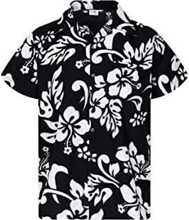 0e8e2da3f King Kameha Hawaiian Shirt for Men Funky Casual Button Down Very Loud  Shortsleeve Unisex Hibiscus