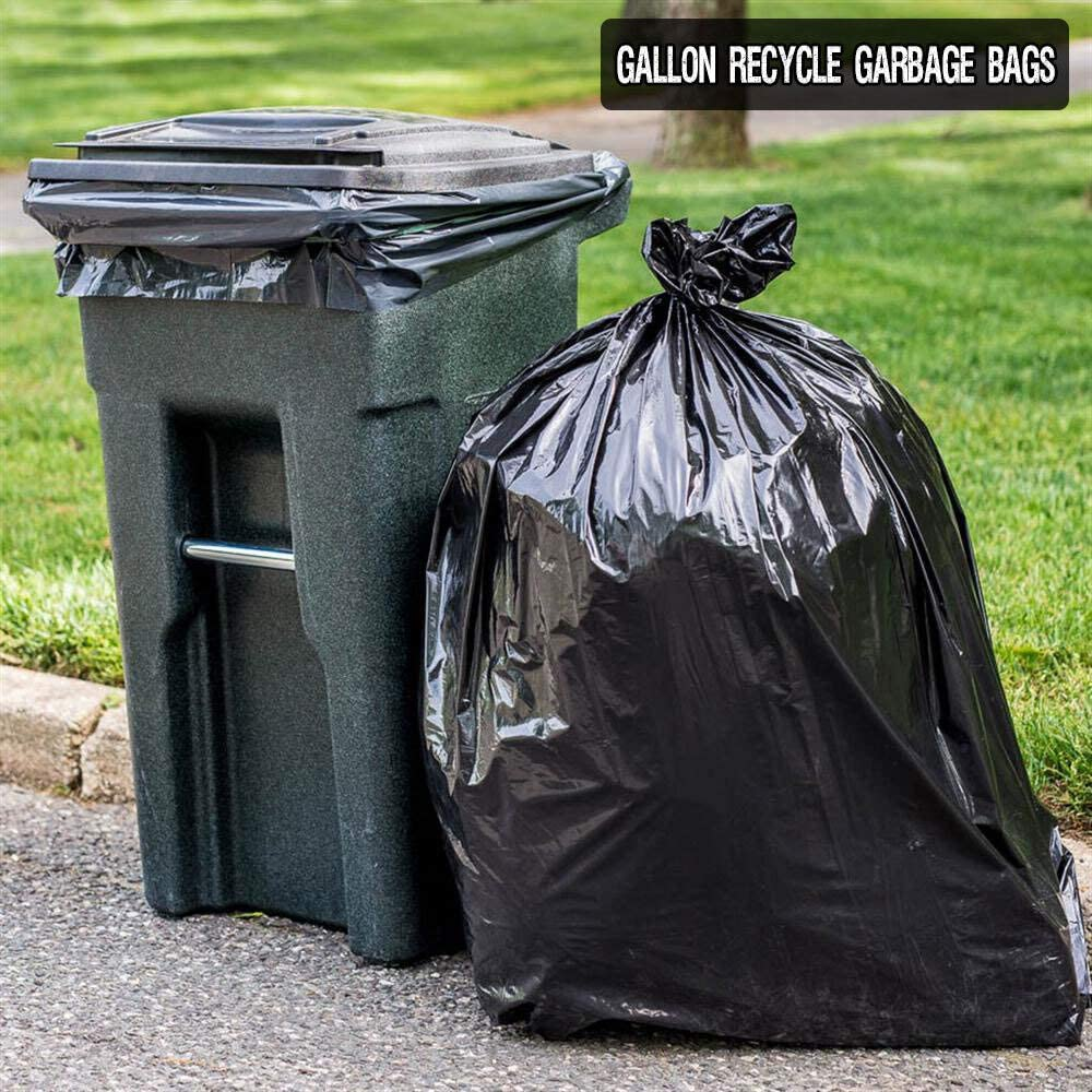 """45-50 Gallon 1.5 mil Strong Trash Bags 25 37/"""" X 43/"""" MADE IN USA Low Density"""