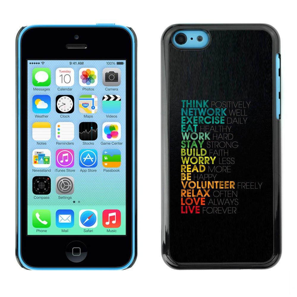 LASTONE PHONE CASE / Premio Sottile Slim Cassa Custodia Case Bandiera Cover Shell per Apple Iphone 5C / Life Love Work Positive Motivational Quote Think