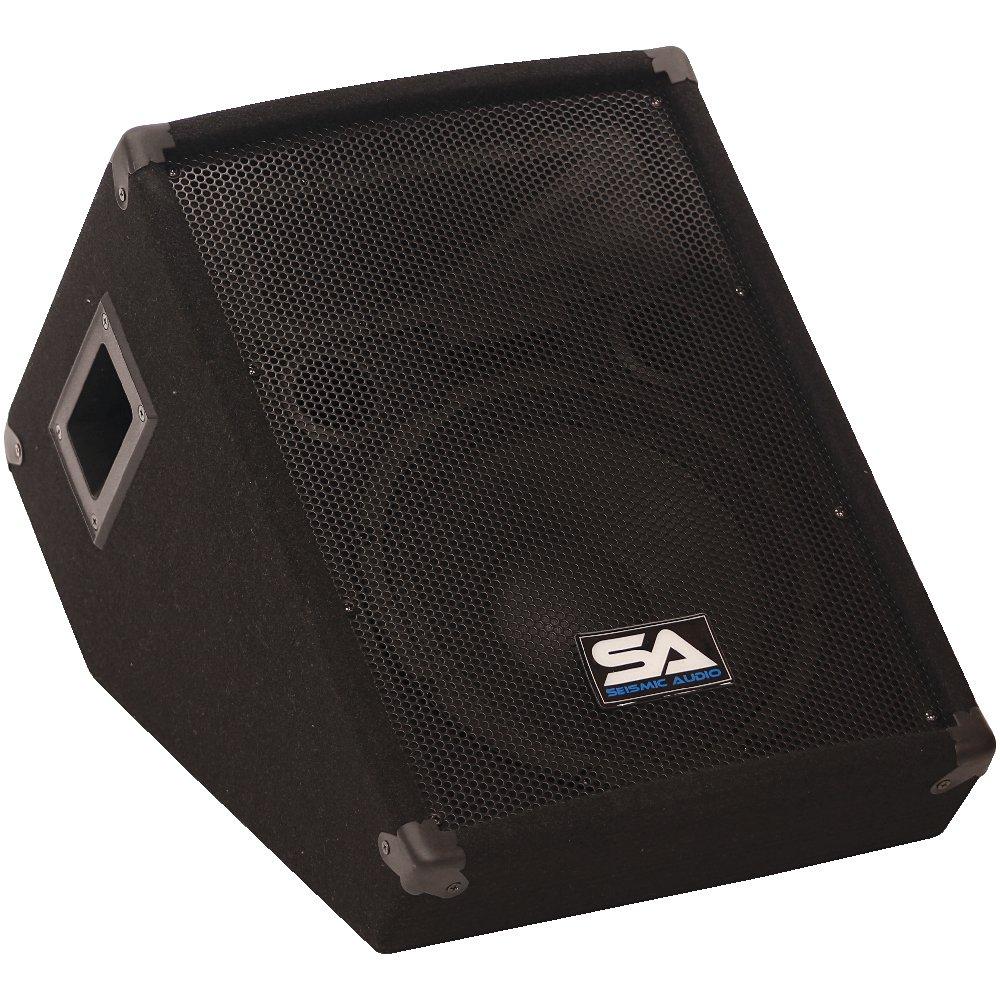 Seismic Audio - SA-10MTSingle - 10'' Floor/Stage Monitor Wedge Style with Titanium Horn by Seismic Audio