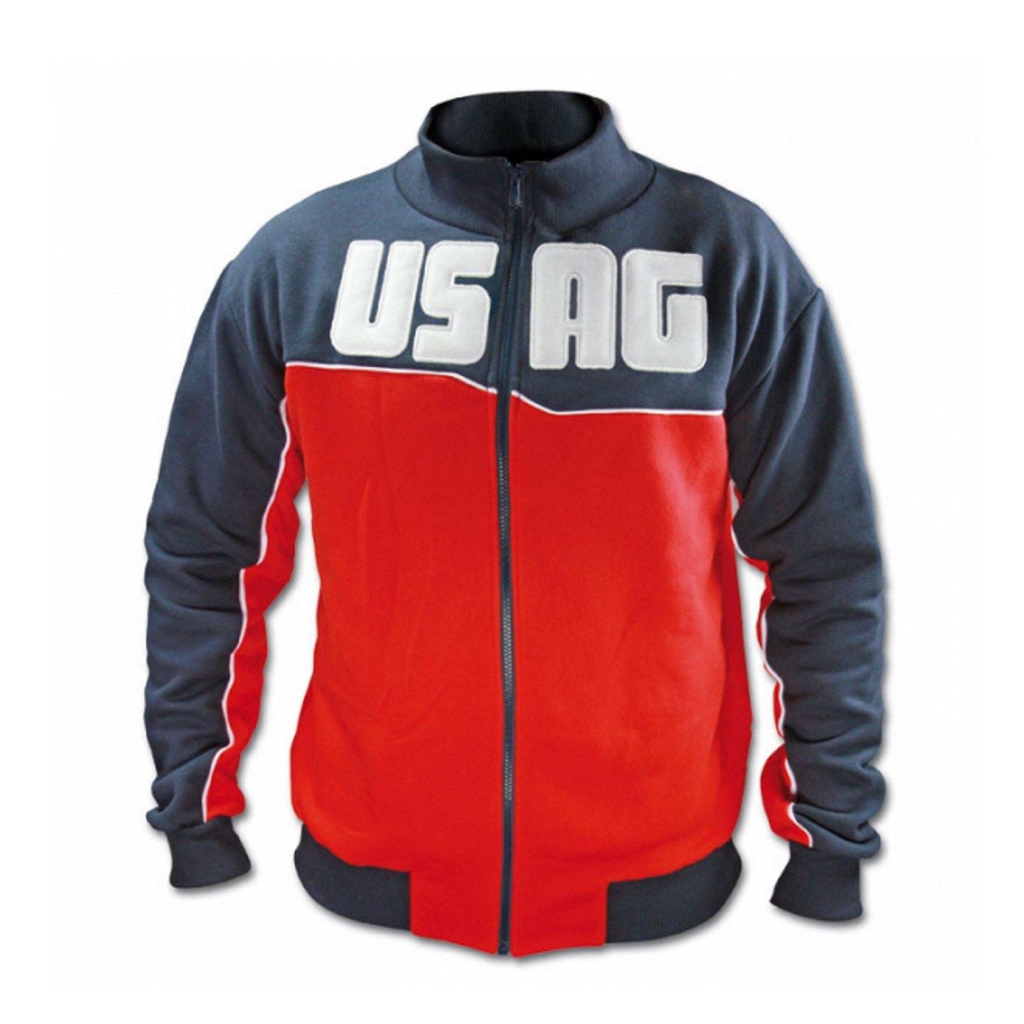 Fazio Srl Sweatshirt Usag Arbeits-Baumwoll-Sweatshirt mit Reißverschluss und elastischen Bündchen One Größe M U37120004G