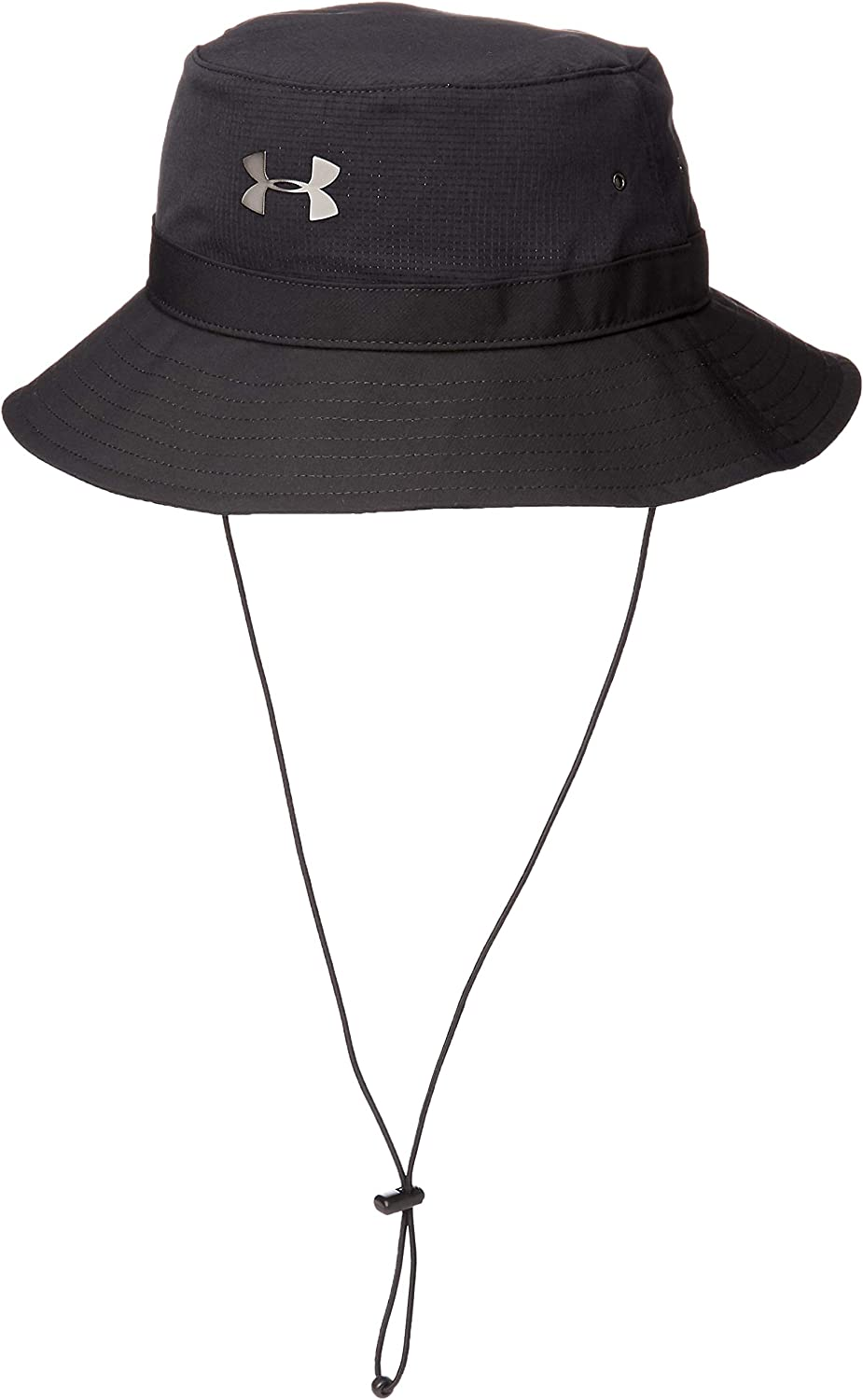 Under Armour Men's ArmourVent Warrior Bucket Hat , Black (001)/Metallic Ore , One Size Fits All: Clothing