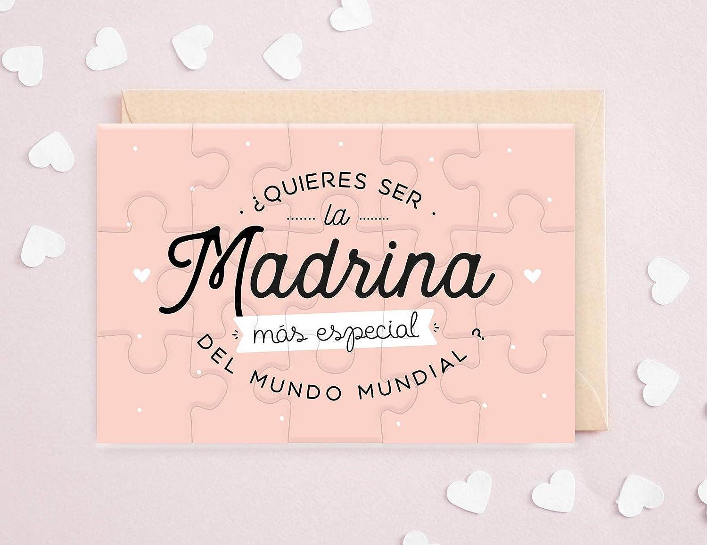 Petici/ón madrina rompecabezas para madrina Anuncio nacimiento Puzzle madrina /¿Quieres ser la madrina m/ás especial del mundo mundial?