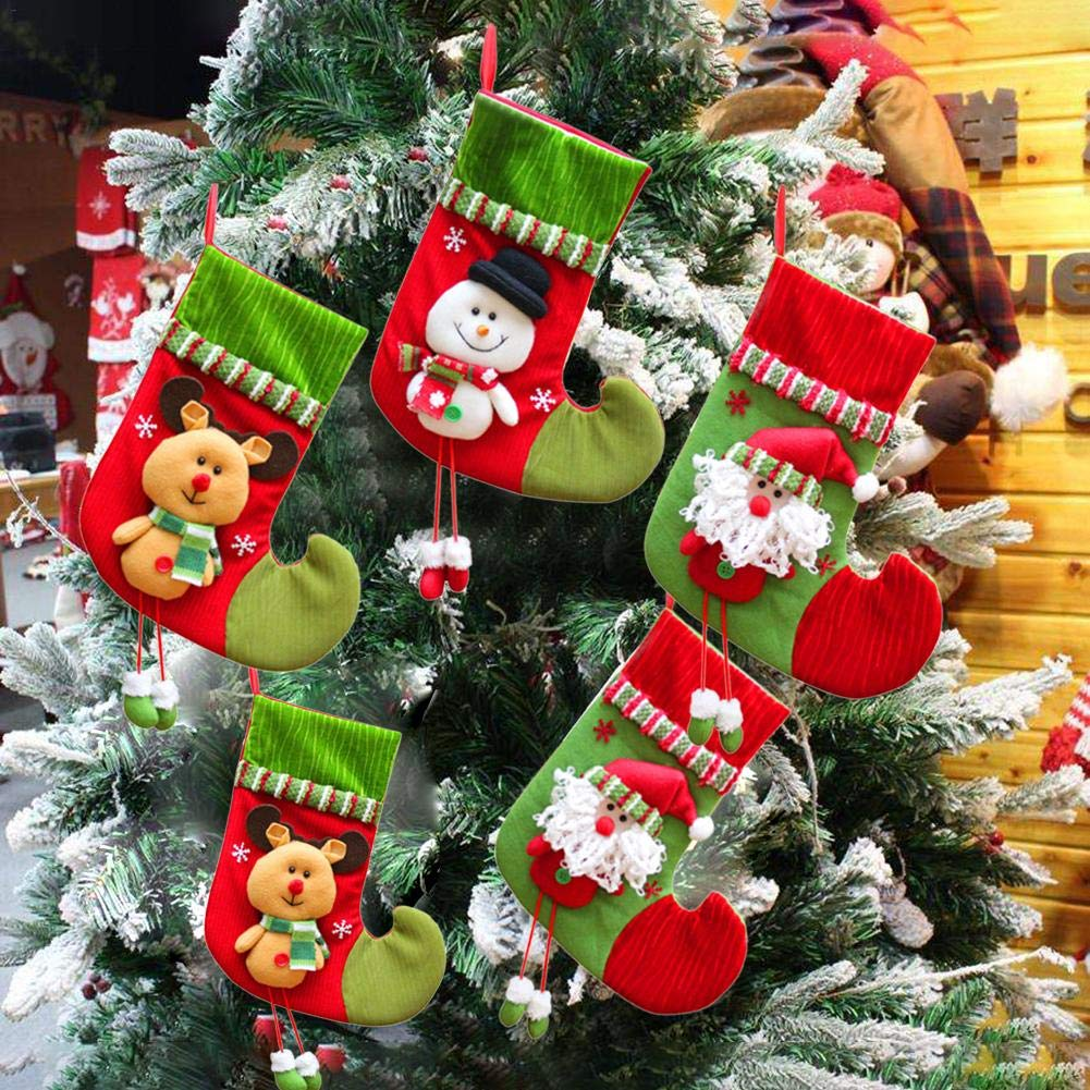 ELEC TECH Weihnachten Strumpf Beutel Christmas Stocking 3-er Set ...