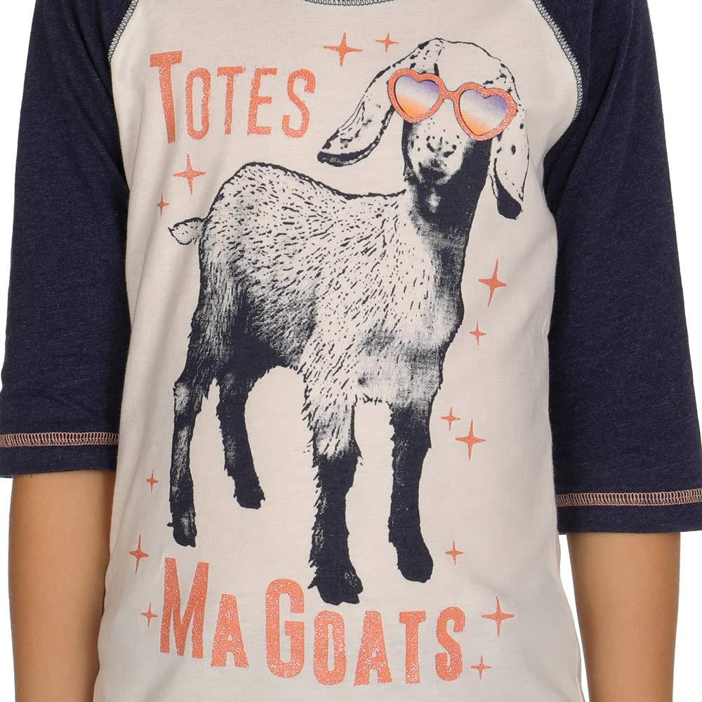 Cruel Girl Girls Girls 3//4 Sleeve Totes Ma Goats Tee