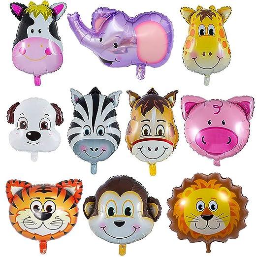 iLoveDeco 10-Pack Globos de Animales, Globos Animales De La ...