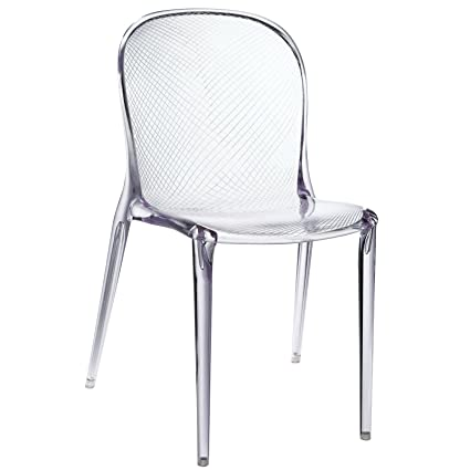 Strange Amazon Com Modern Boutique Dining Chair In Clear Acrylic Spiritservingveterans Wood Chair Design Ideas Spiritservingveteransorg