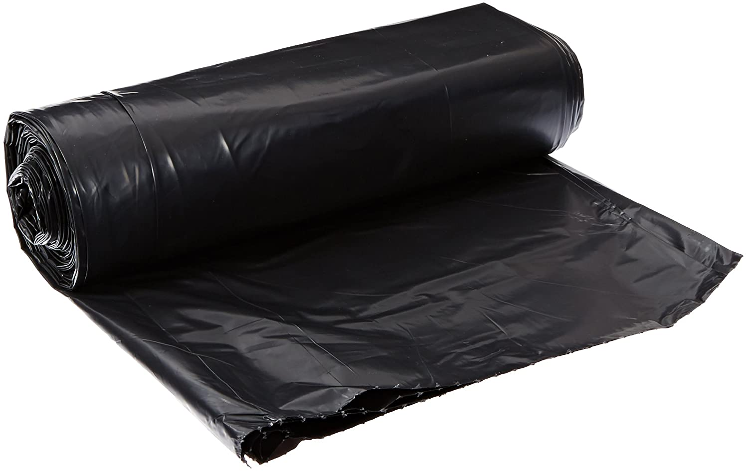 Black 1.6mil 10 Roll//Carton Linear Low Density Can Liners 40 x 46 10 Bag//Roll 3 Cartons