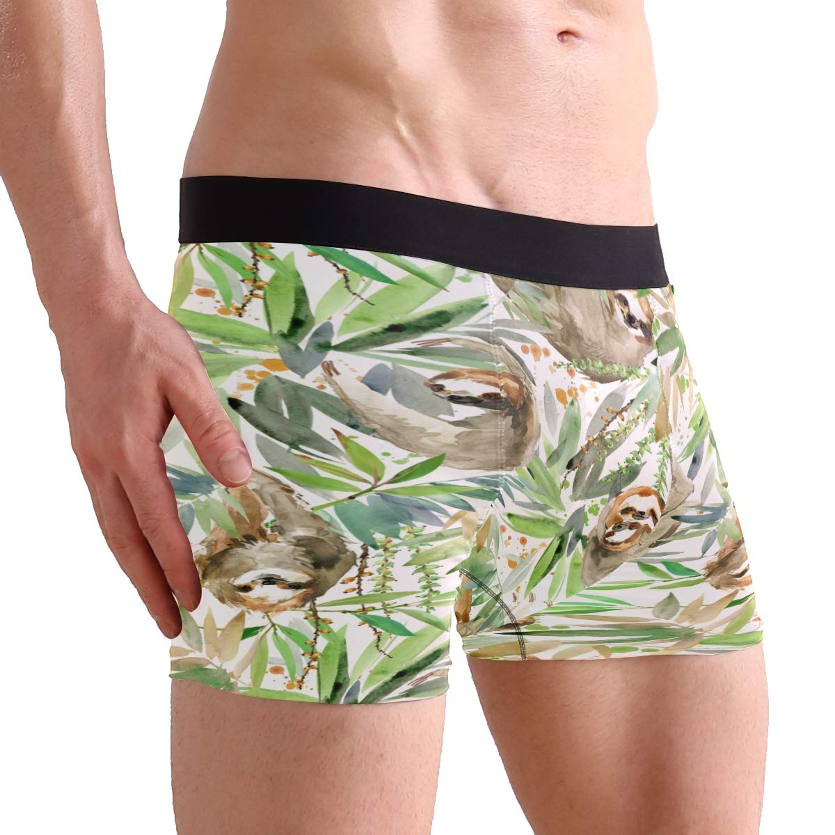 Sloth Men/'s Boxer Briefs Animal Green Underwear Stretchable S-XL