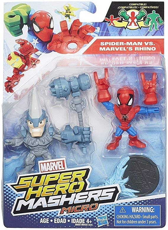 MARVEL Figuras Super Hero Mashers Micro , pack 2 , Modelos/colores ...