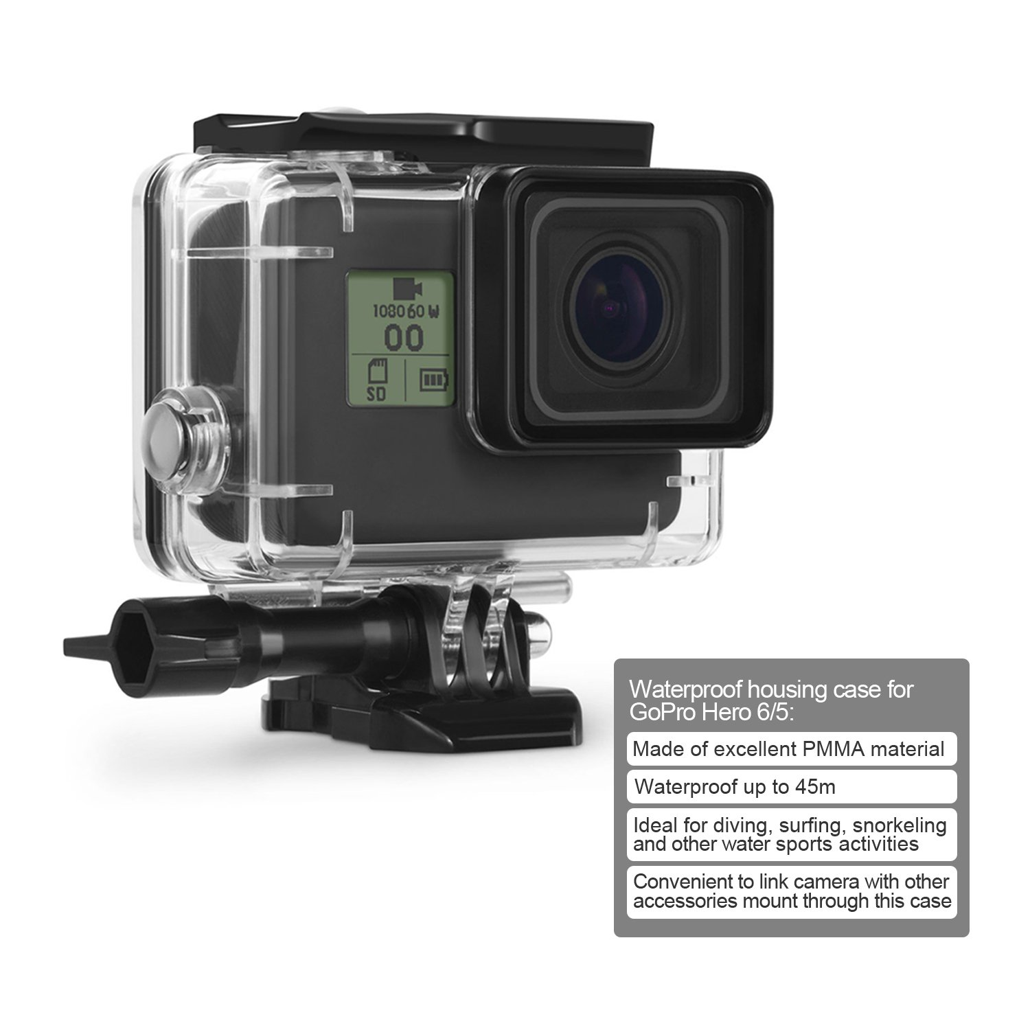 accessoires gopro hero 6 black. Black Bedroom Furniture Sets. Home Design Ideas