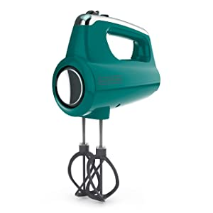 BLACK+DECKER MX600T Helix Performance Premium 5-Speed Hand Mixer Teal