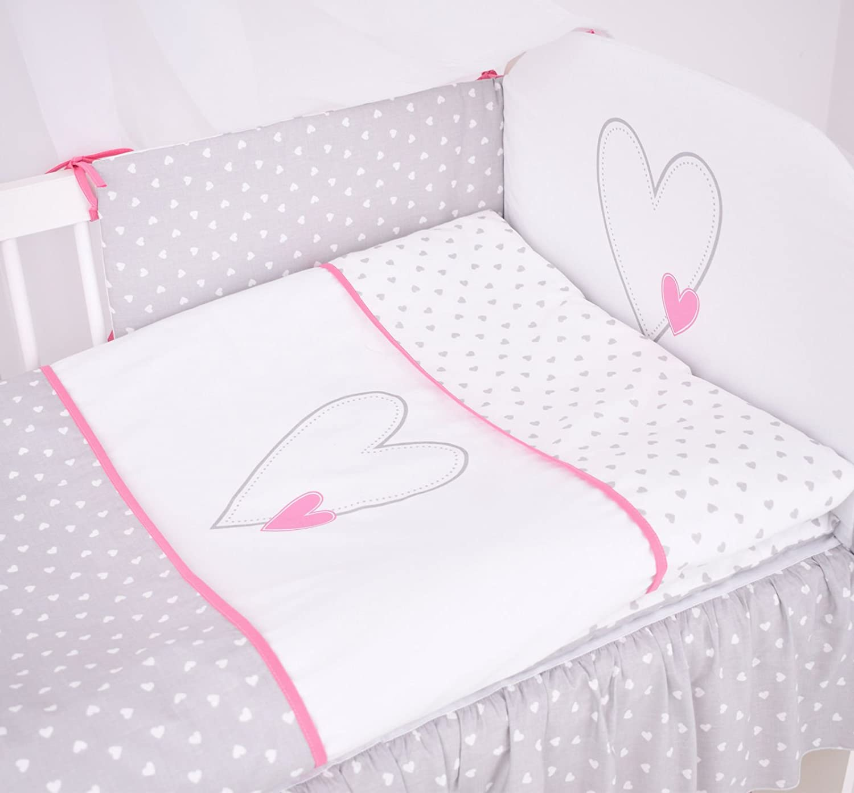 Kinder-Bett KLUPS Kinderzimmer SET Baby-ZimmerHerz Rosa