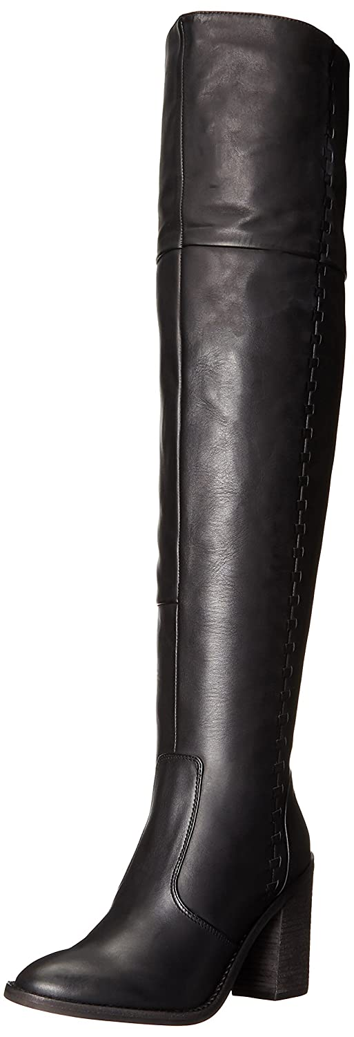 Vince Camuto Women's Morra Black Leather Over the Knee Riding Boots