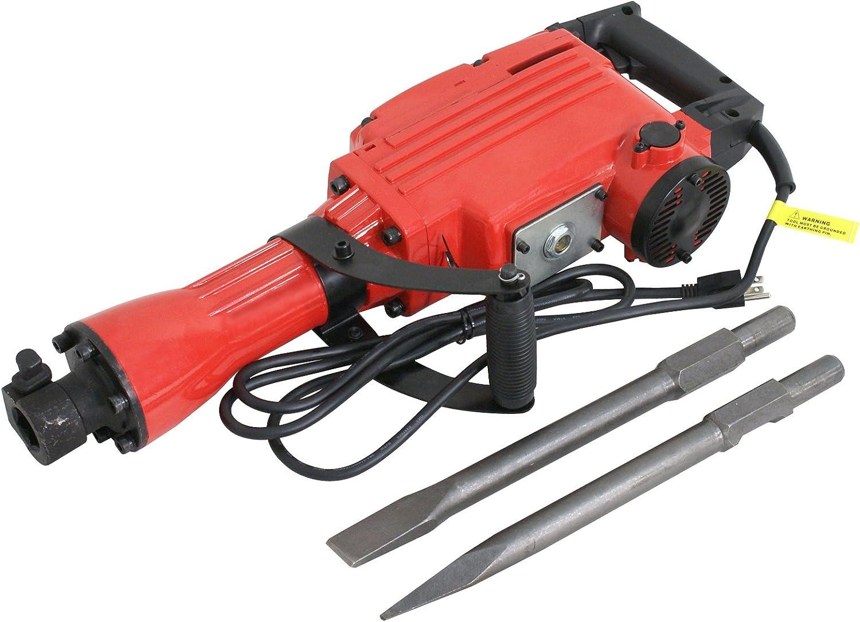 2200W//3500W Demolition Jack Hammer Electric Concrete Breaker Punch 2 Chisel Bit