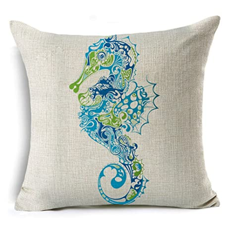 Qinqingo Fundas de almohada decorativas de lino y algodón ...