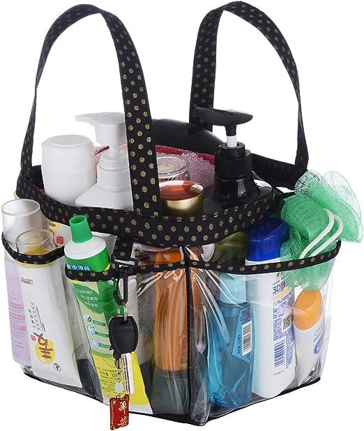 Dorm Shower Caddy Bag Mesh Hanging College Tote 9 Pocket Bathroom Organizer Gift