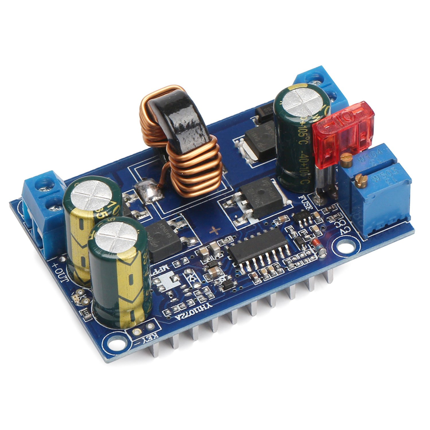 Drok Dc Automatic Boost Buck Converter Module 60w Of A With External Mosfet For Short Circuit Protection Constant Voltage Current Car Regulator Dc5 32v To 125 20v Industrial Scientific