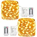 2-Pack GDEALER Fairy String Waterproof 8 Modes 60 LED Lights