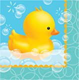 Creative Converting 16 Count 3 Ply Bubble Bath Lunch Napkins, Blue/Yellow