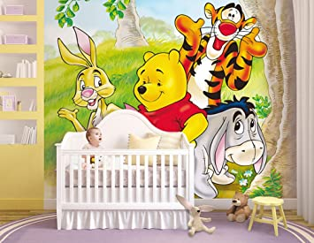 Kinder Fototapete Poster Winnie Pooh Kinderzimmer Bordure Dekoration