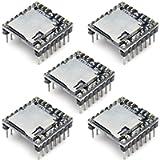 DAOKI 5 Pack U Disk Mini MP3 DFPlayer Player Module Audio Voice Board Shield for Arduino UNO